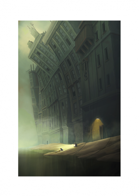 LITTLE NIGHTMARES II - ART PRINT PALE CITY