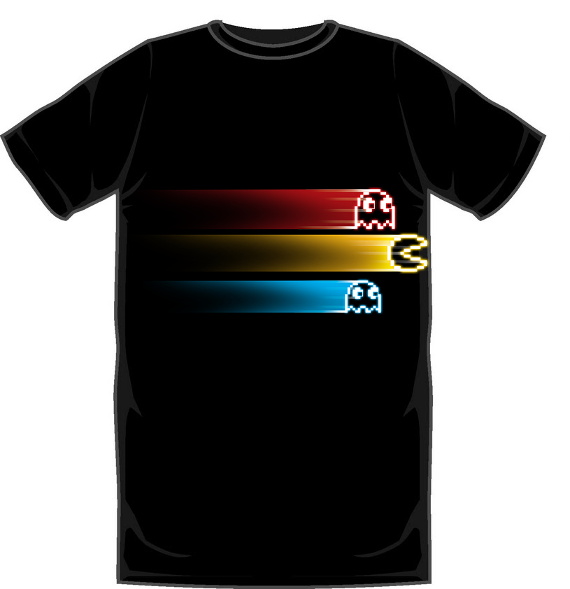 Pac-Man Ghostly Chase T-Shirt - Large