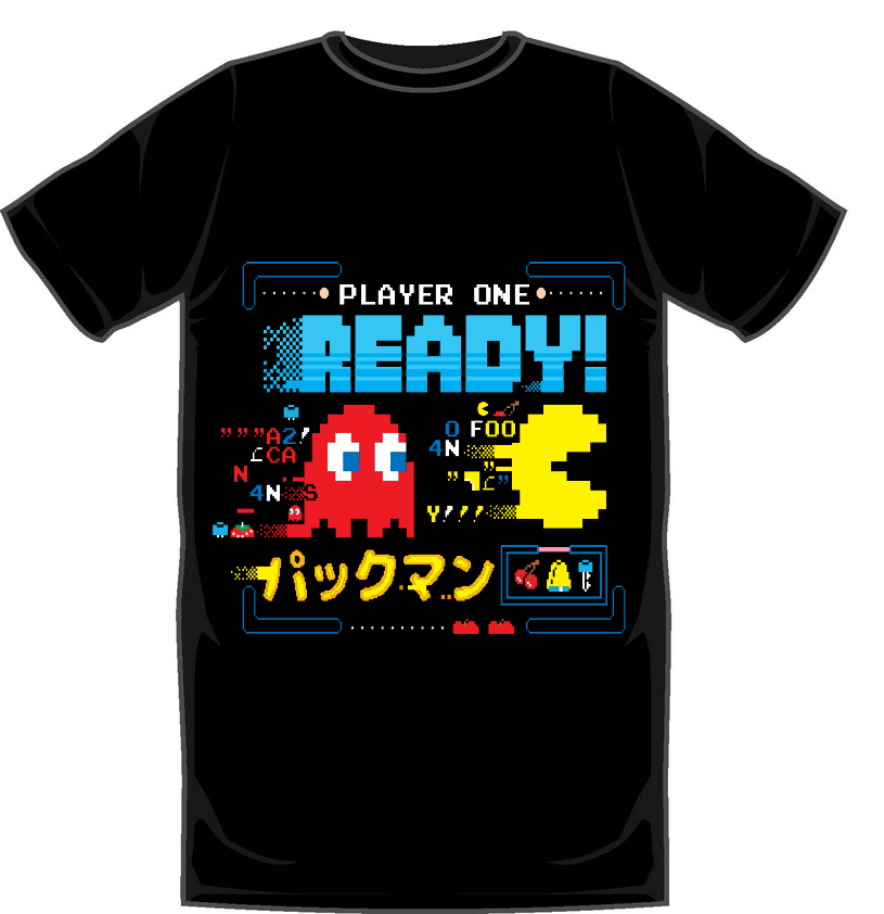 Pac-Man Ready Player One T-Shirt  - Small