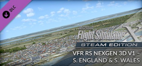 VFR Real Scenery NexGen 3D - Vol  1: Southern England and South Wales Add-On