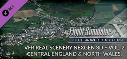 VFR Real Scenery NextGen 3D - Vol  2: Central England and North Wales Add-On