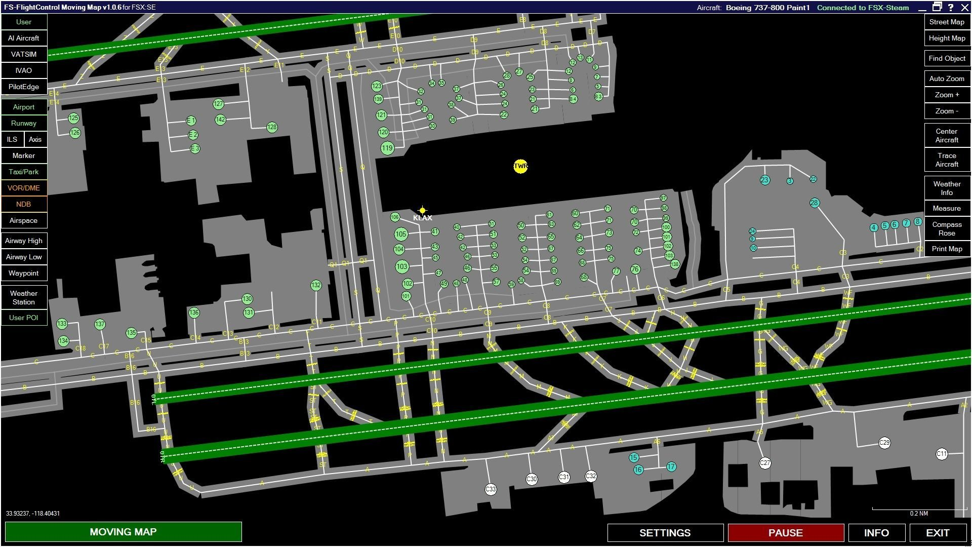 FSX Steam Edition: Moving Map Add-On | Dovetail Store