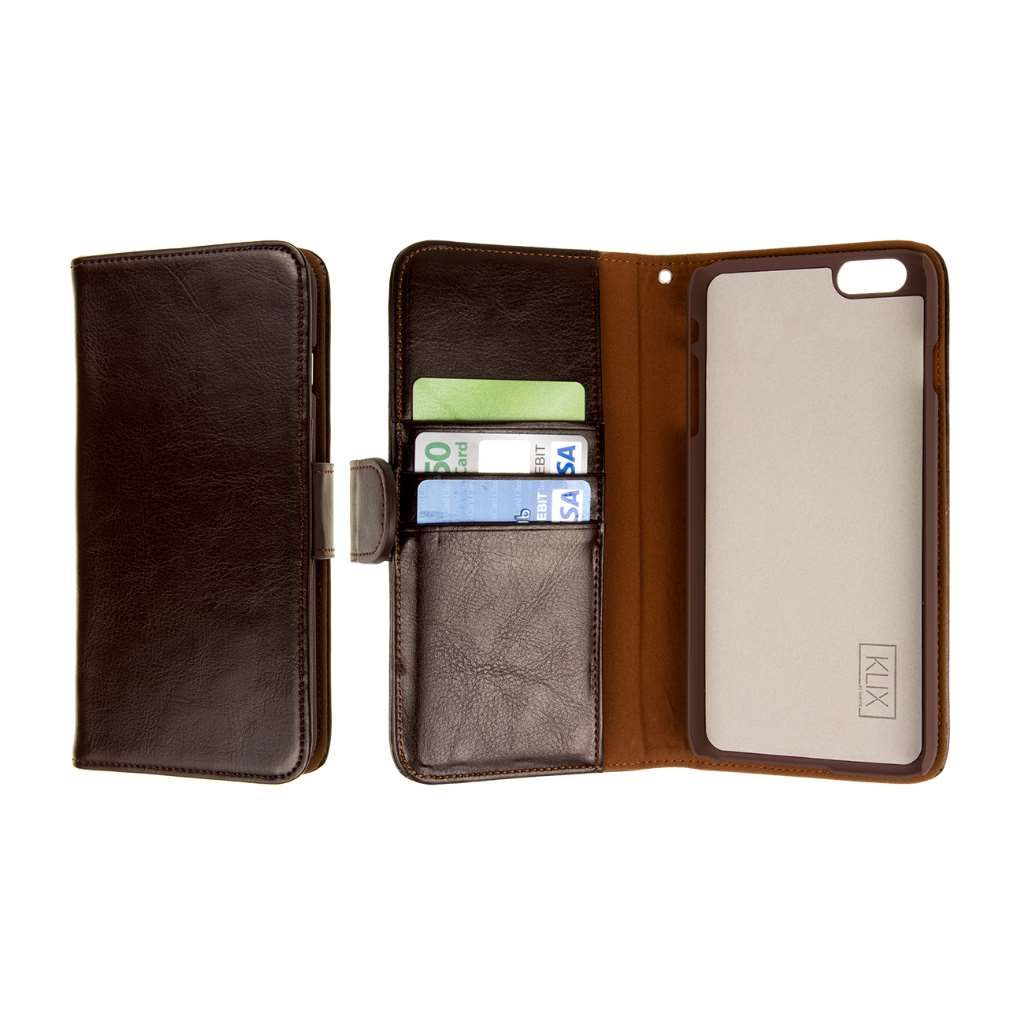 a20447875cd85 Apple iPhone 6 Plus   6S Plus KLIX Genuine Leather Wallet Phone ...