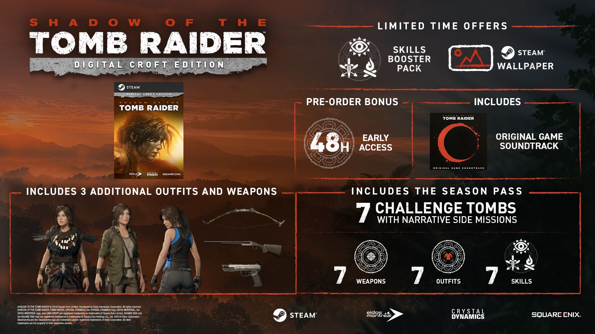 Shadow of the Tomb Raider - Croft Edition [PC Download] | Square