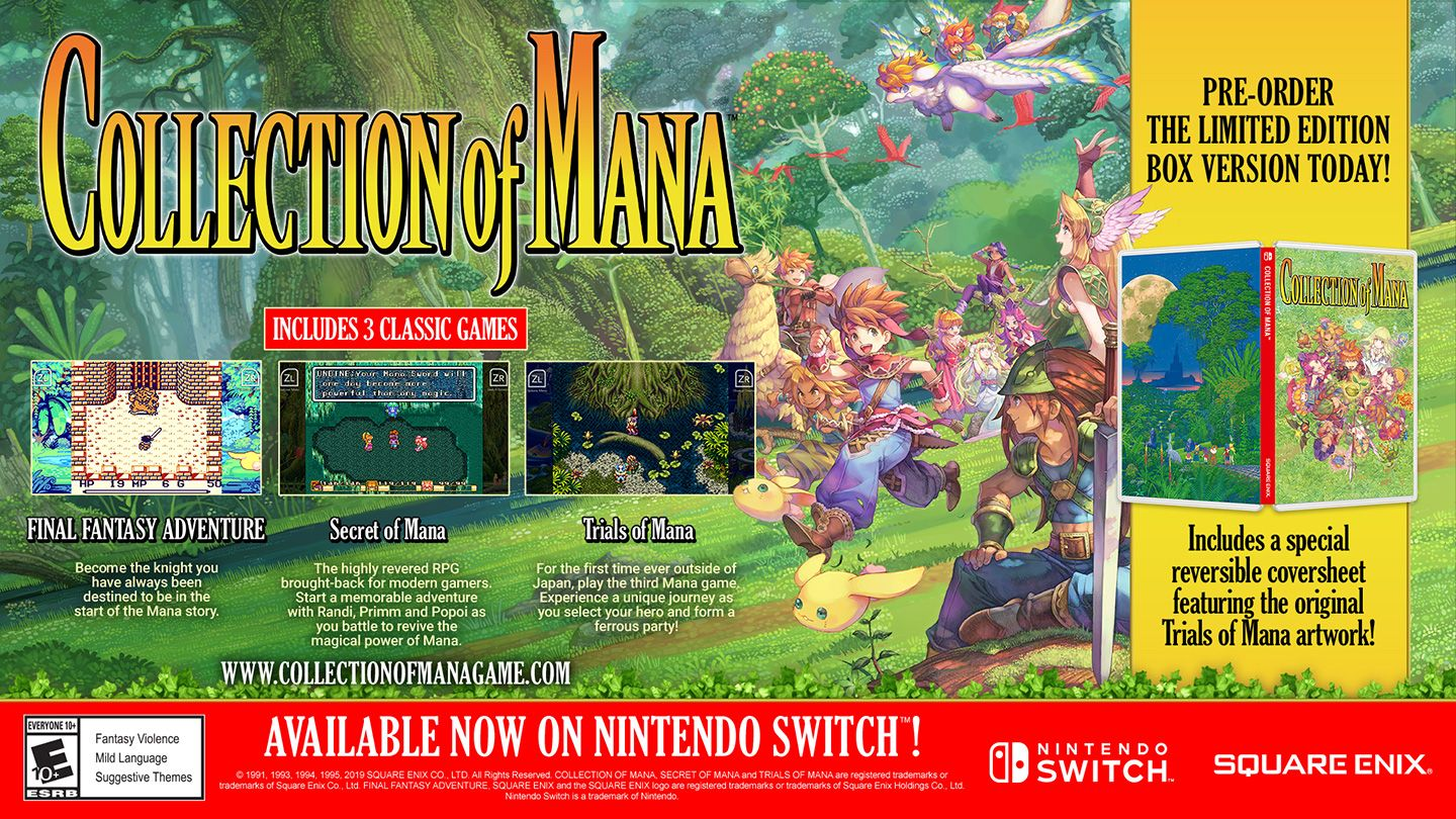 COLLECTION OF MANA [SWITCH] | Square Enix Store