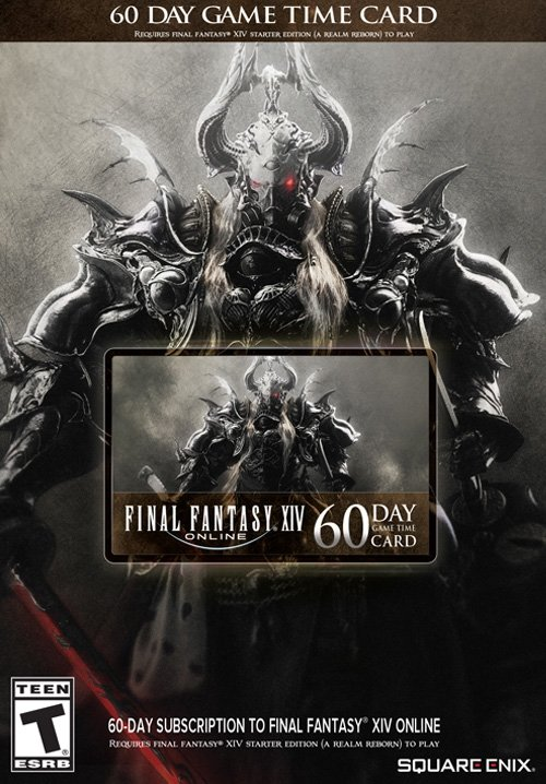 FINAL FANTASYR XIV ONLINE 60 DAY GAME TIME CARD DOWNLOAD