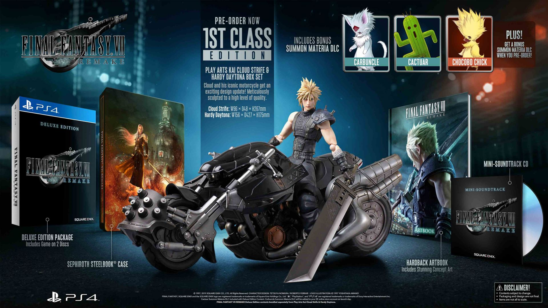 FINAL FANTASY VII REMAKE - 1st Class Edition [PS4] | Square