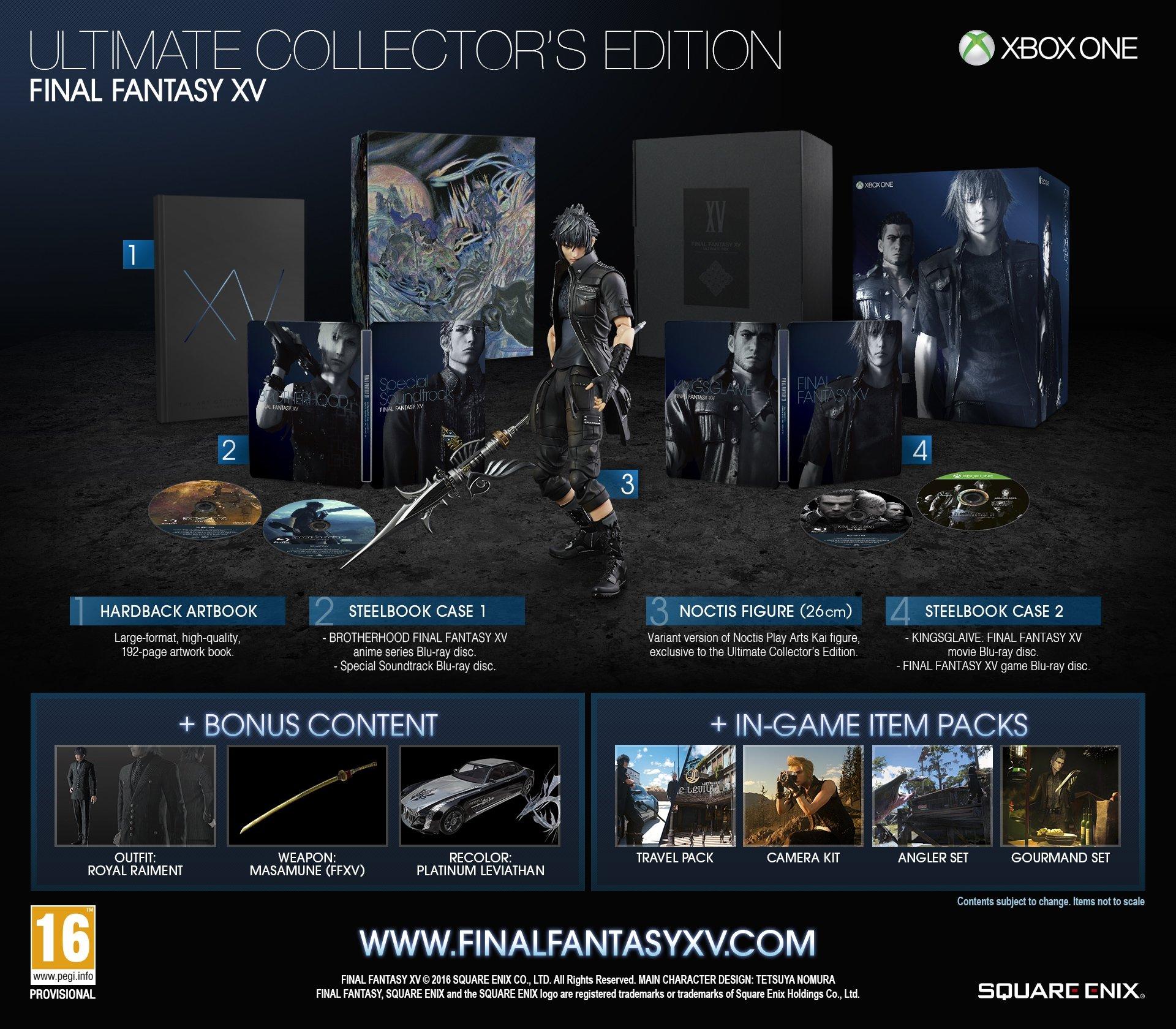 FINAL FANTASY XV Ultimate Collector's Edition [Xbox One