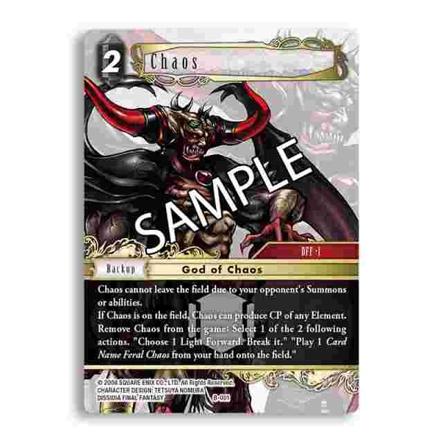Screenshot for the game FINAL FANTASY TRADING CARD GAME: BOSS DECK – CHAOS [FFTCG]