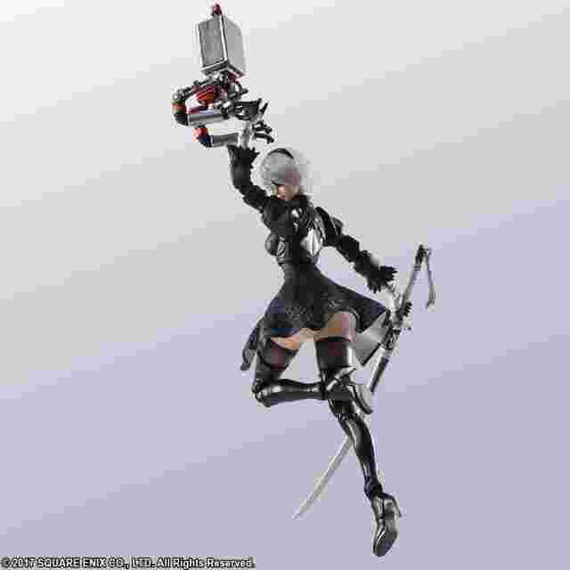 Capture d'écran du jeu NieR:Automata BRING ARTS 2B & Forme de vie mécanique