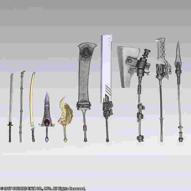 Captura de pantalla del juego NieR:Automata  BRING ARTS Trading Weapon Collection(box of 10)