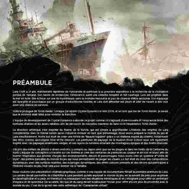 Capture d'écran du jeu TOMB RAIDER ARTBOOK : THE ART OF SURVIVAL