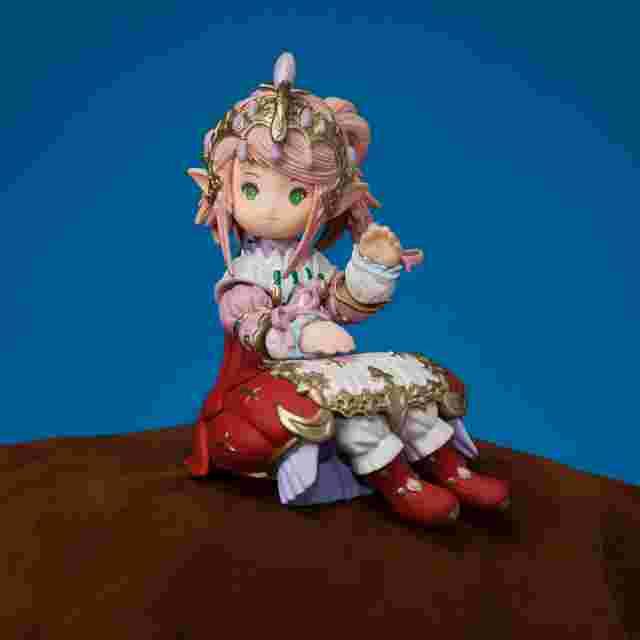 Capture d'écran du jeu FINAL FANTASY XIV MASCOT FIGURE [SEATED NANAMO]