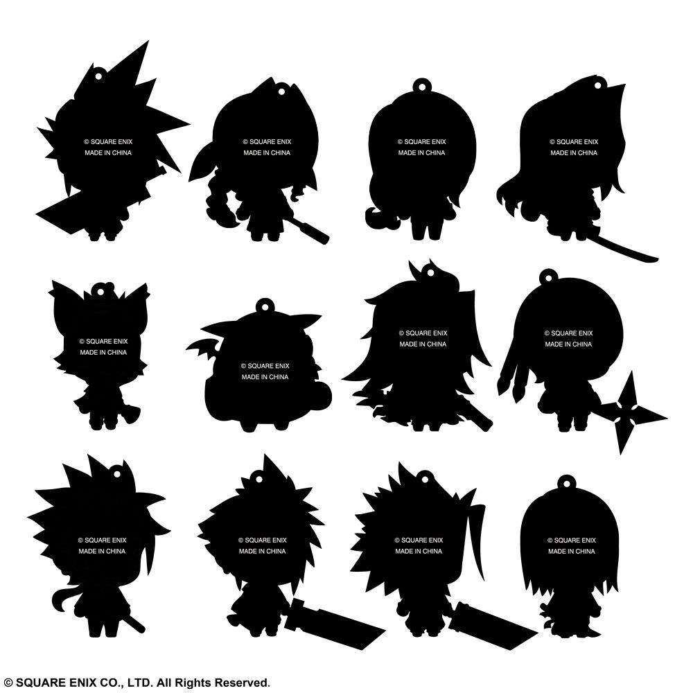 Square Enix Final Fantasy 7 Phone Charms Rubber Straps Assortment of 12