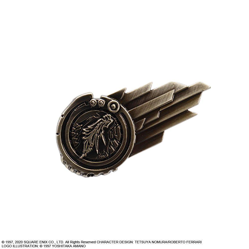 FINAL FANTASY VII 7 REMAKE Kuji Lottery Shinra Logo Pin Badge D-4