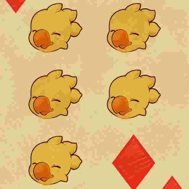 Capture d'écran du jeu Jeu de cartes Chocobo