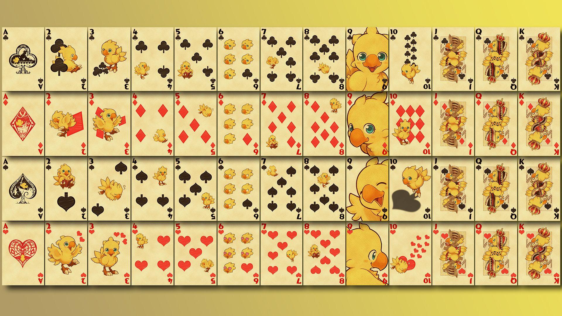 Square Enix Final Fantasy Chocobo Playing Cards Carte Da Gioco