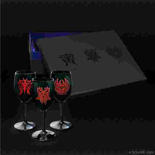 Screenshot for the game FINAL FANTASY XIV Wine Glasses - Ascian Sigils (Box of 3)
