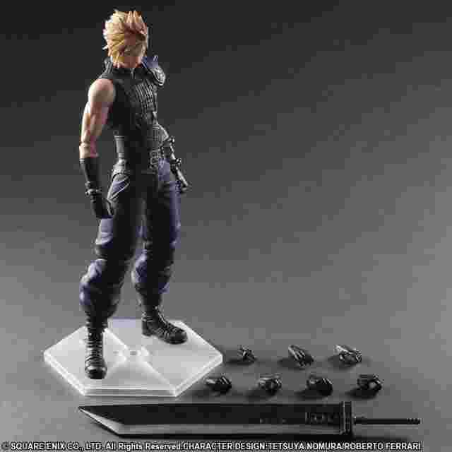 Capture d'écran du jeu FINAL FANTASY VII REMAKE PLAY ARTS -KAI- No.1 CLOUD STRIFE