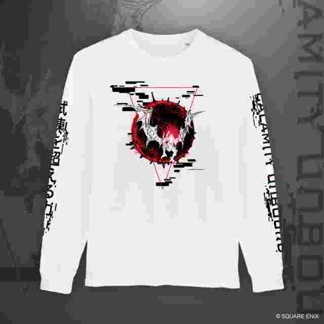 "Captura de pantalla del juego FINAL FANTASY XIV ""BAHAMUT – CALAMITY UNBOUND"" LONG SLEEVE T-SHIRT - XL"