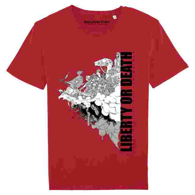 """Screenshot for the game FINAL FANTASY XIV""""REVOLUTION -LIBERTY OR DEATH""""T-SHIRT - SIZE M"""