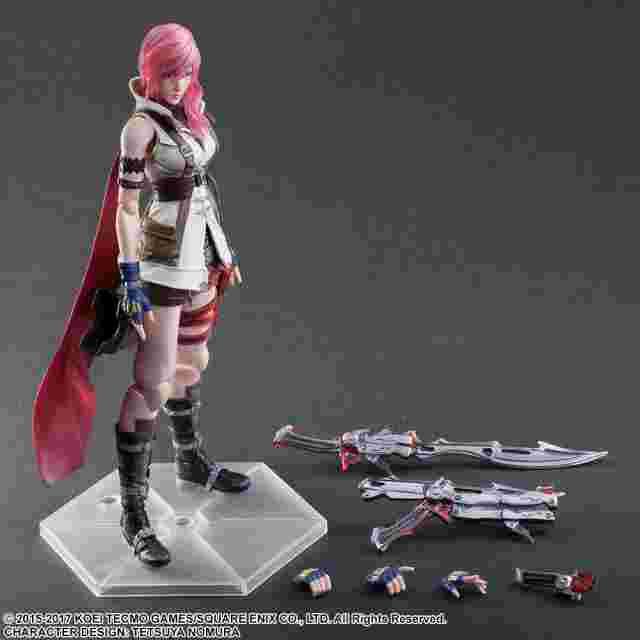 Capture d'écran du jeu Figurine Dissidia Final Fantasy Play Arts Kai [Lightning]