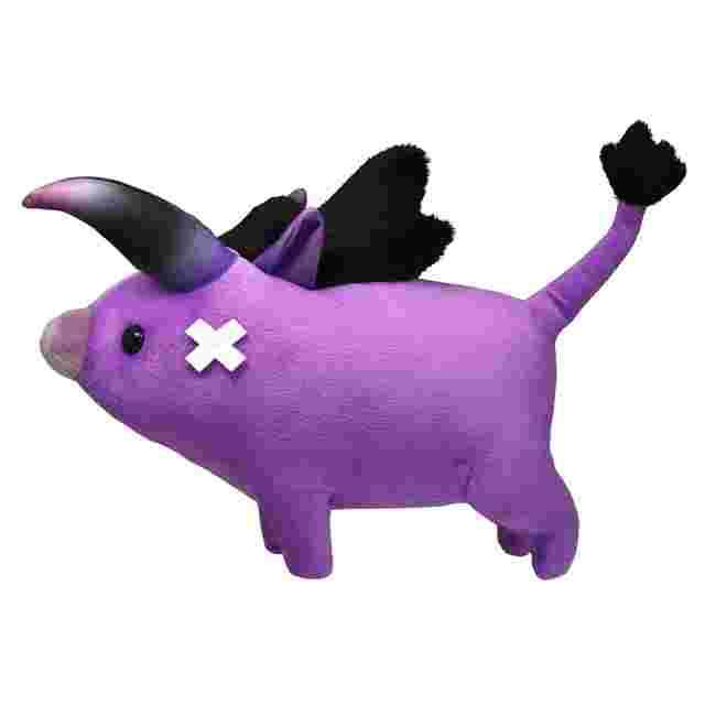 Captura de pantalla del juego FINAL FANTASY XIV Baby Behemoth Plush
