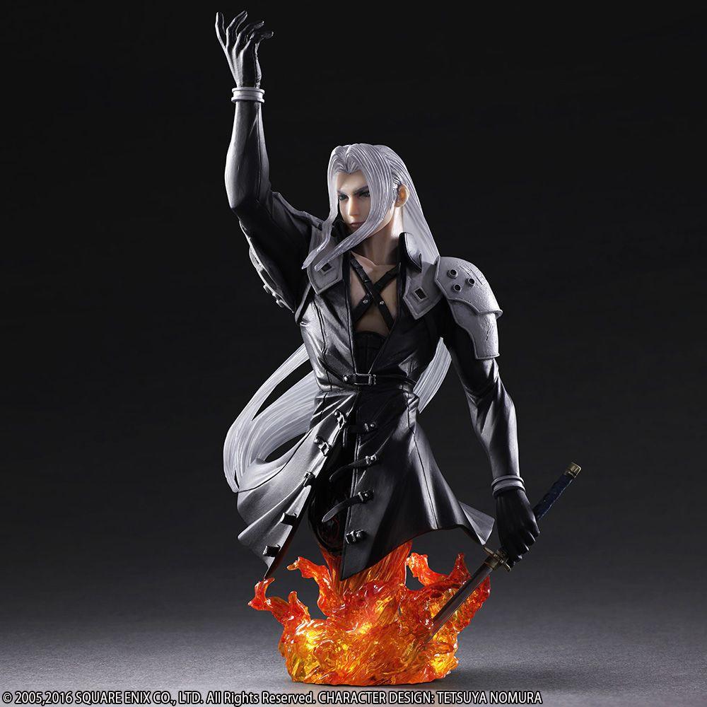 "FINAL FANTASY Static Arts Bust Sephiroth Statue Figure 8.3/""  New no Box"