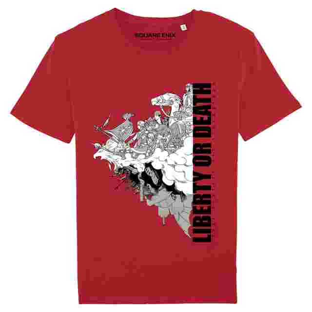 "Captura de pantalla del juego FINAL FANTASY XIV ""REVOLUTION - LIBERTY OR DEATH"" T-SHIRT (M)"