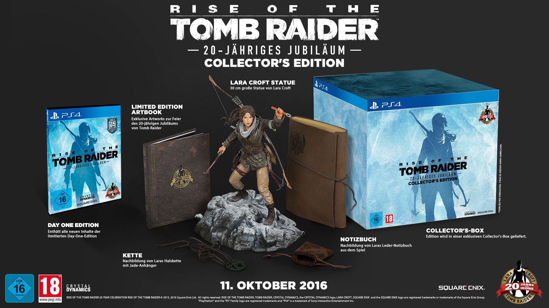 Rise Of The Tomb Raider 20 Year Celebration Collector S Edition Ps4 Square Enix Store