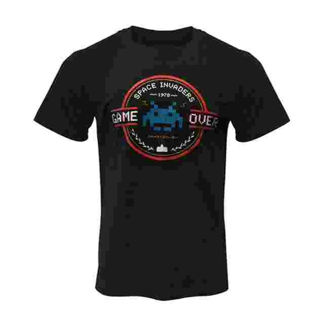 Screenshot for the game Space Invaders Game Over T-Shirt: XS [APPAREL]