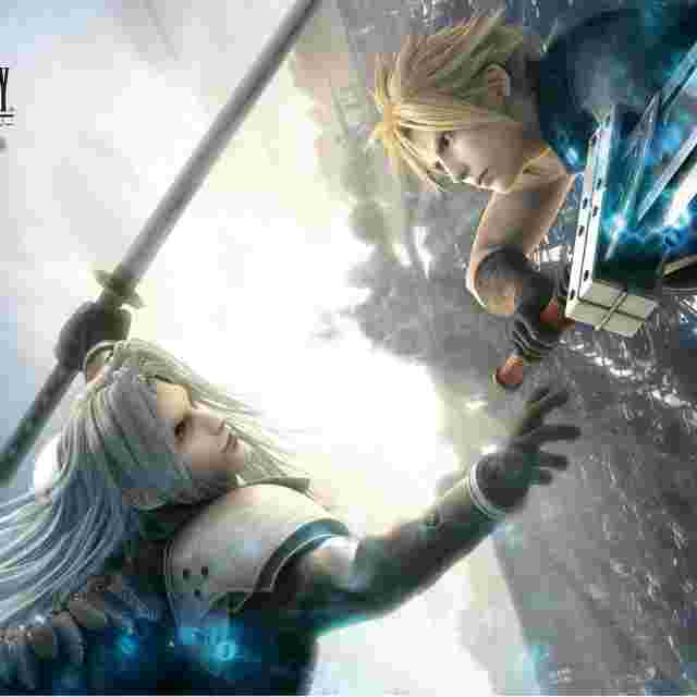 Capture d'écran du jeu Tapis de jeu Final Fantasy Trading Card Game [Final Fantasy VII Advent Children Cloud/Sephiroth]