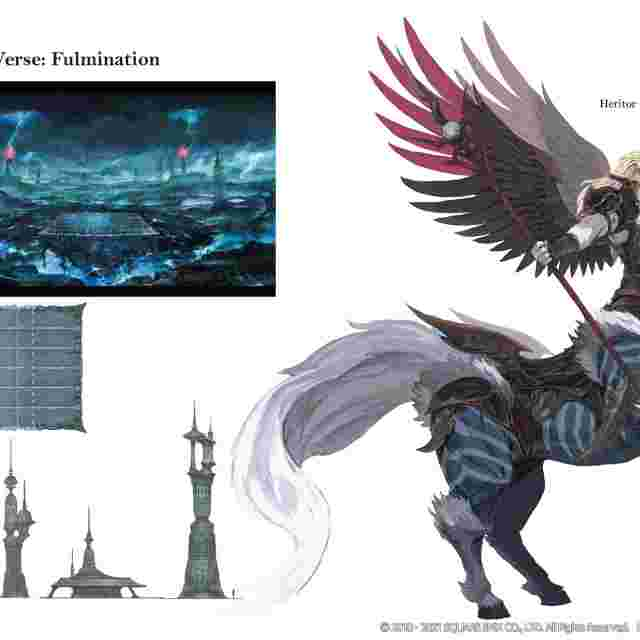 Screenshot for the game FINAL FANTASY XIV: SHADOWBRINGERS -- The Art of Reflection -Histories Unwritten- [ARTBOOK]