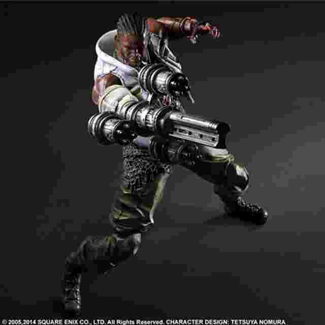 Captura de pantalla del juego FINAL FANTASY VII ADVENT CHILDREN PLAY ARTS KAI [Barret Wallace]