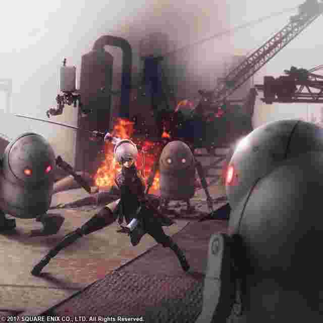 Screenshot for the game NieR:Automata BRING ARTS 2B & Machine Lifeform