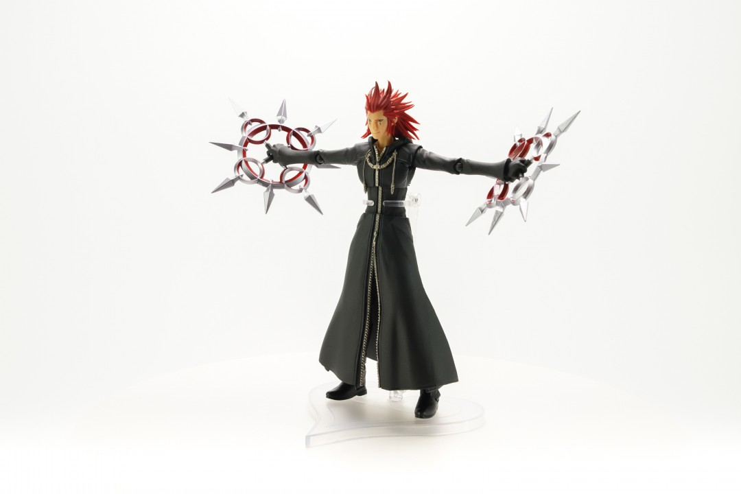 SQUARE ENIX KINGDOM HEARTS III BRING ARTS AXEL Action Figure w// Tracking NEW