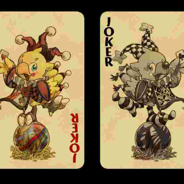 Screenshot des Spiels Chocobo Playing Cards