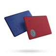 Azurite Blue and Ruby Red Slim Lot de 2