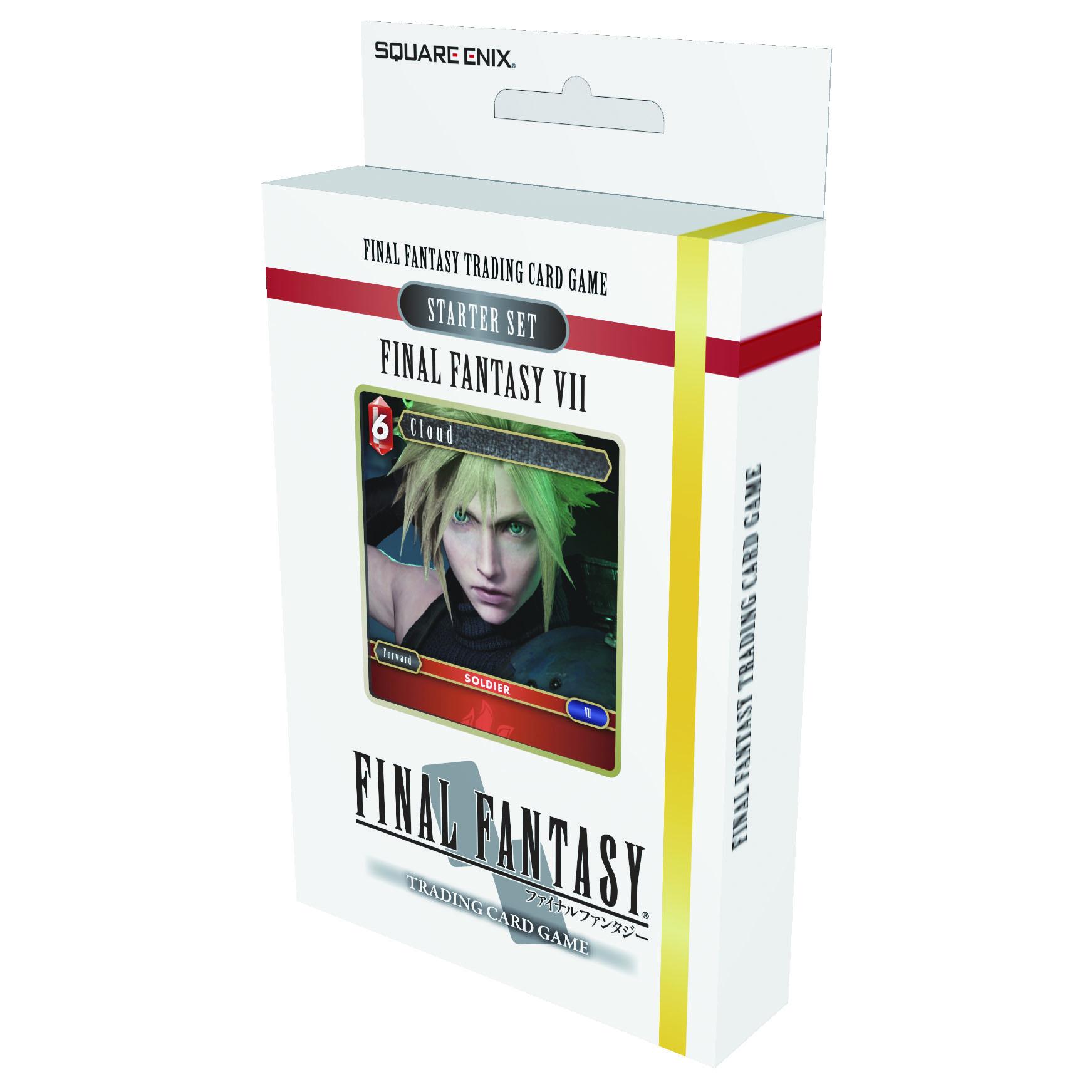 Final Fantasy 7 Starter PreConstructed Deck TCG Final Fantasy Trading Card Game