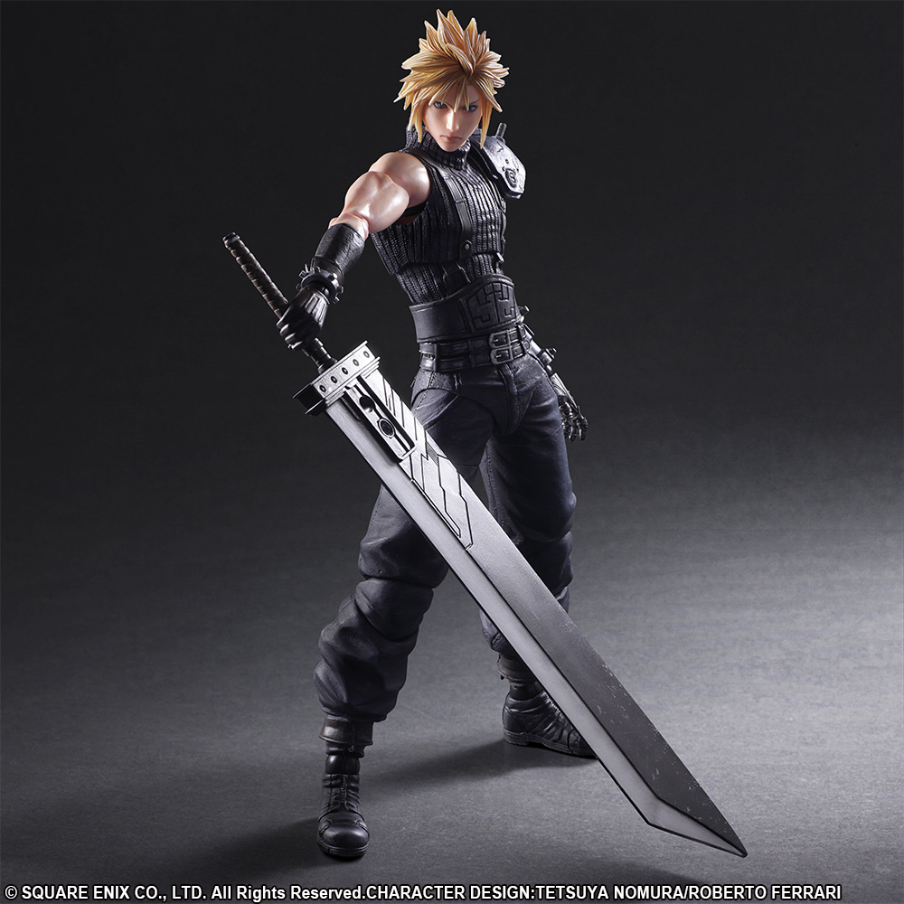 New Play Arts Final Fantasy VII Remake Cloud Strife Action Figure No Box