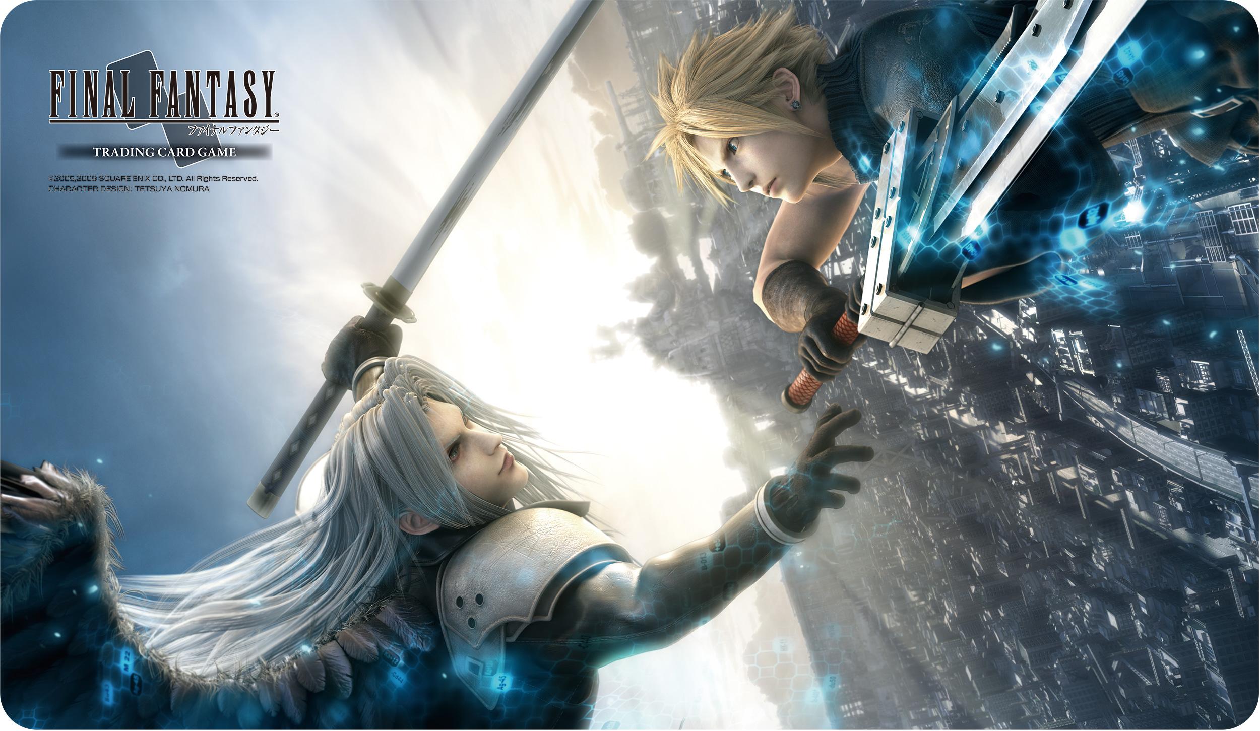 Final Fantasy Trading Card Game Premium Quality Play Mat Final Fantasy Vii Advent Children Cloud Sephiroth Square Enix Store