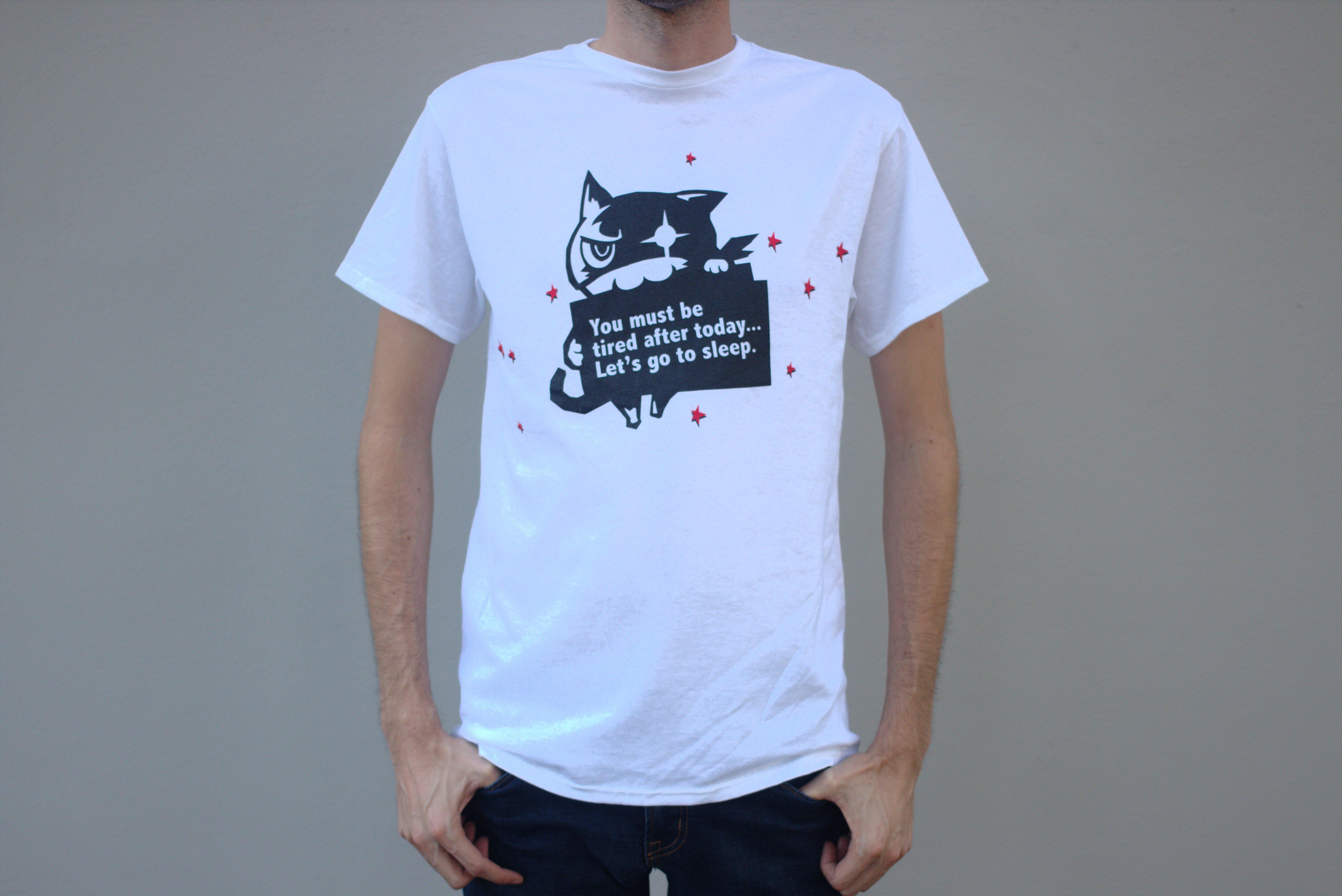 cb0920138 Morgana Go to Sleep Shirt L   ATLUS Online Store